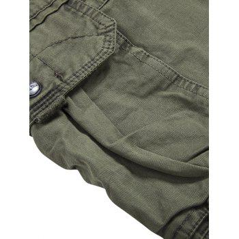 Zip Fly Multi-Pocket Straight Leg Cargo Pants - ARMY GREEN 31