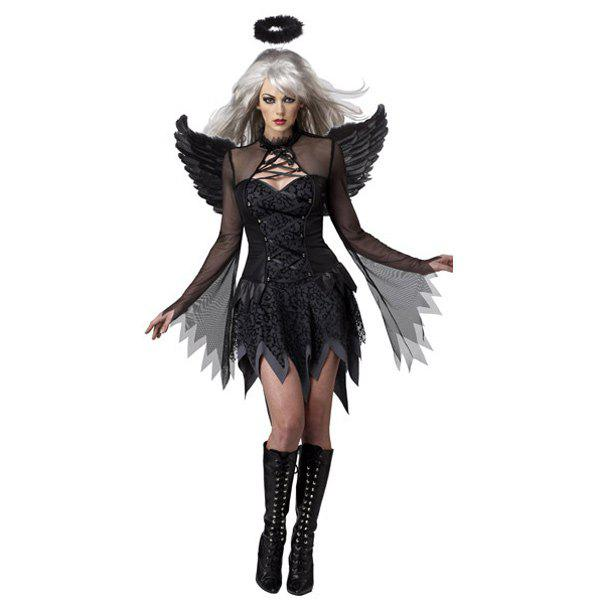 cosplay exotic apparel dark devil fallen angel sexy adult halloween costume black - Exotic Halloween Costume