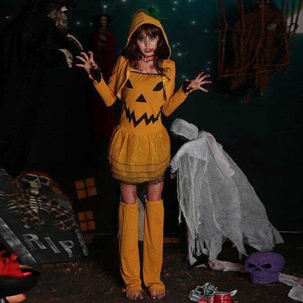 Hot Selling Halloween Party Cosplay Pumpkin Witch Costume - YELLOW
