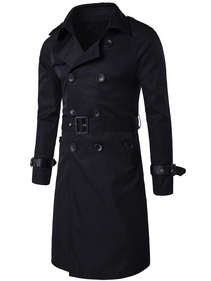 Notched Collar Double Breasted Trench Coat hanro бюстгальтер