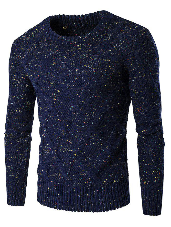Ras du cou à manches longues Colorful Kink design Sweater - Bleu Cadette M