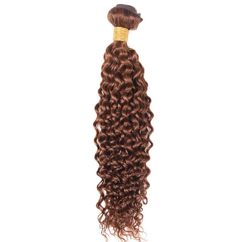 1 Pc Cute Kinky Curly 6A Virgin Brazilian Hair Weaves - DEEP BROWN 10INCH