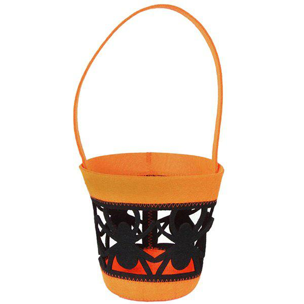 Spider Cut Out Halloween Tote Bag - ORANGE