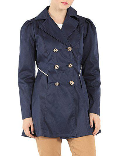 Slim Fit Double Breasted Dressy Trench Coat slim double breasted tied belt trench coat