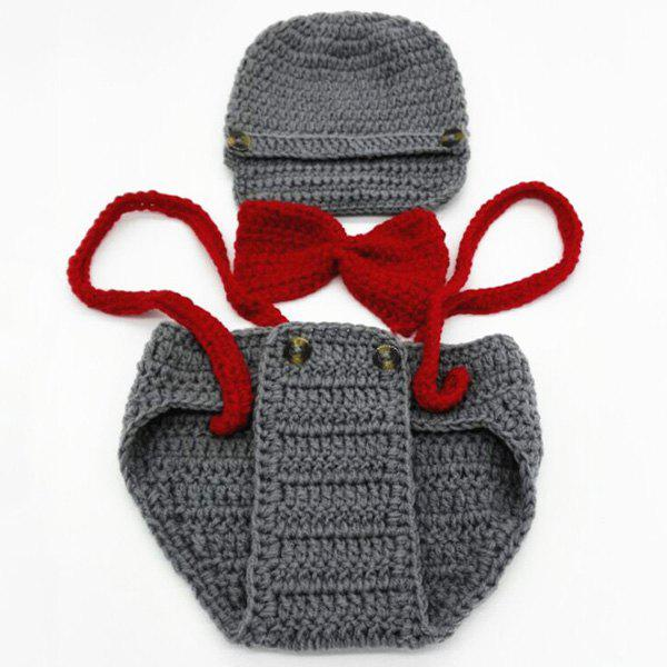 Handmade Pilot Crochet Baby Photography Prop Costume SetHome<br><br><br>Color: GRAY