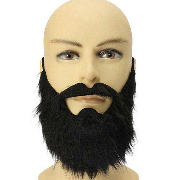 Halloween Party Supplies False Beard Cosplay Prop - BLACK