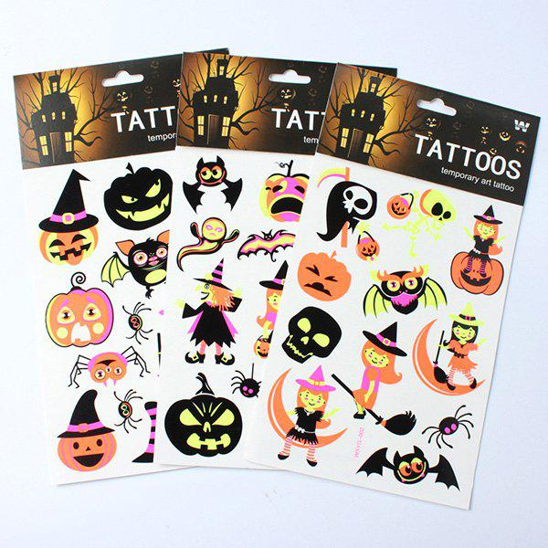 Halloween Party Supplies 3PCS Luminous Sticker Decoration - COLORMIX
