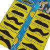 12pcs Costume Party drôle de Halloween Faux Mustache - Noir