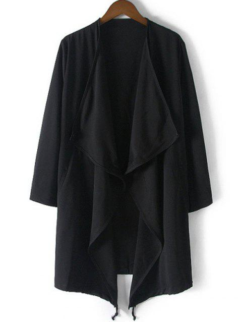 Coulissée Relaxed Trench Coat - Noir S