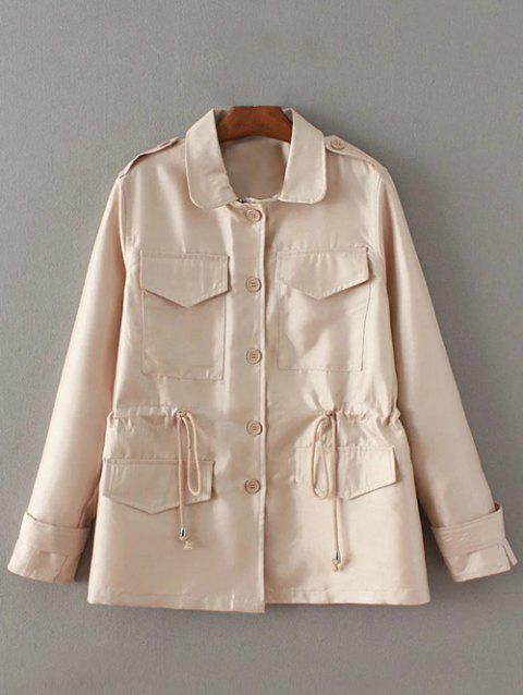Manteau taille coulissée Pocket Trench - Nu L