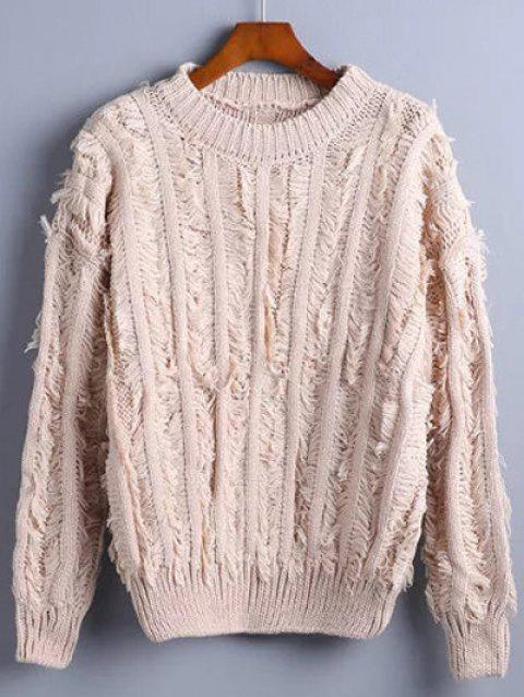 16969bcc3d 2019 Fuzzy Pullover Sweater In APRICOT ONE SIZE