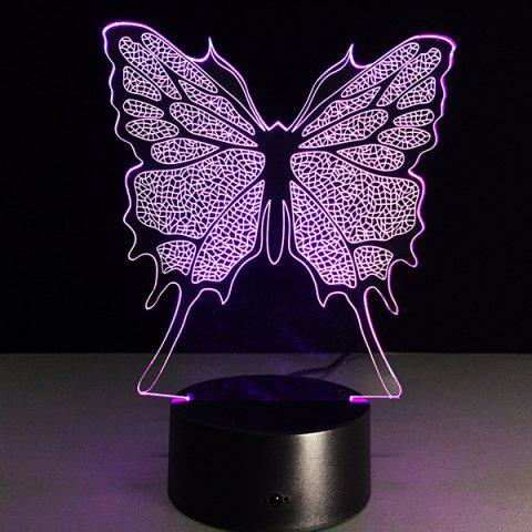 Festival 3D Butterfly Shape Touch Colorful Night Light - TRANSPARENT