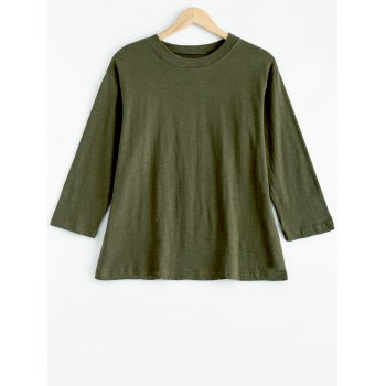 Plus Size Mock Neck Long Sleeve T-Shirt