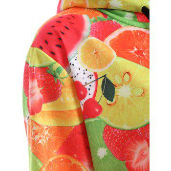 Pull Fruit 3D Print Hoodie - multicolorcolore M