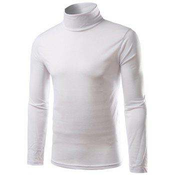 Long Sleeve Turtleneck Plain T-Shirt