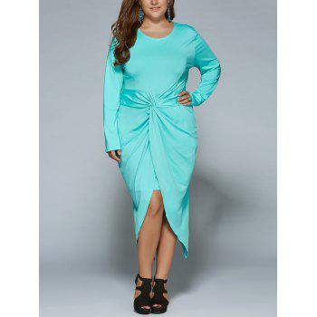Plus Size Twist Front Tulip Dress