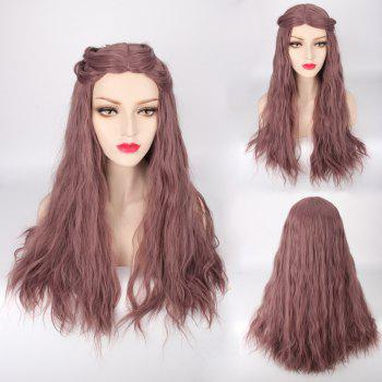 Long Middle Part Fluffy Slightly Curled Lolita Cosplay Synthetic Wig