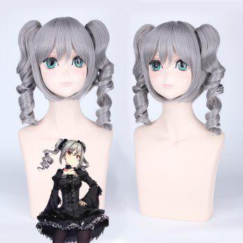 Medium Full Bang with Curly Bunches Idolmaster Cosplay Synthetic Wig