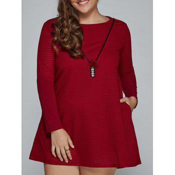 Long Sleeve Mini Plus Size Dress