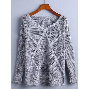 Hollow Out Rhombus Pullover Knitwear