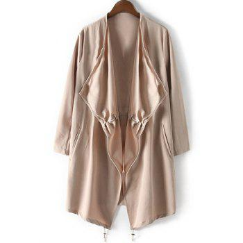 Drawstring Relaxed Trench Coat