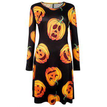 Halloween Pumpkin Printed Dress