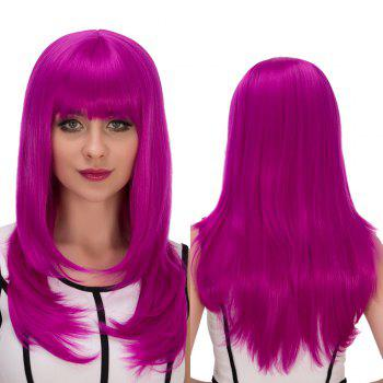 Cosplay Synthetic Long Full Bang Layered Tail Adduction Wig