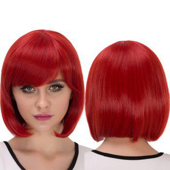 Stunning Short Side Bang Bob Haircut Cosplay Synthetic Wig
