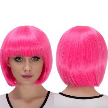Stunning Short Full Bang Bob Haircut Cosplay Synthetic Wig