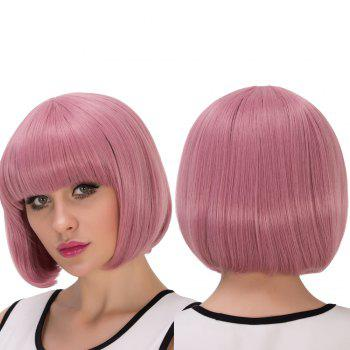 Short Full Bang Bob Haircut Fascinating Cosplay Synthetic Wig