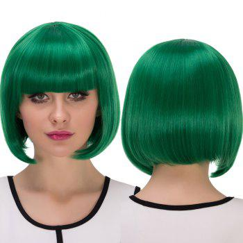 Short Full Bang Bob Haircut Cosplay Synthetic Wig