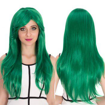 Cosplay Synthetic Long Side Bang Natural Straight Wig