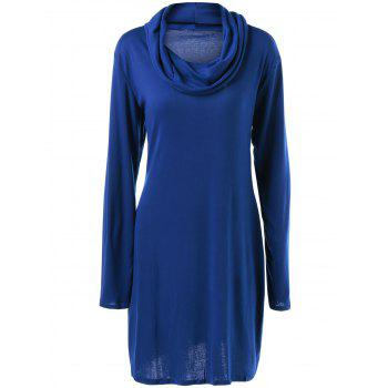 Long Sleeve Plain Slimming Dress