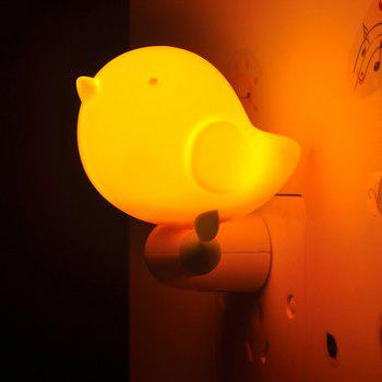Light Control Bedside Desk LED Bird Cartoon Night Light - ORANGE ORANGE