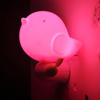 Light Control Bedside Desk LED Bird Cartoon Night Light - PINK PINK