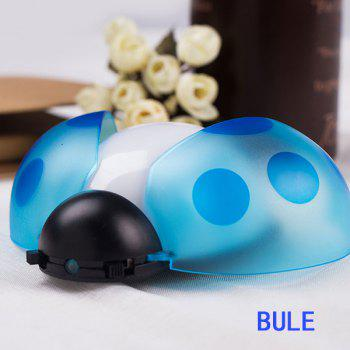 Remote Control Bedside Desk LED Beetle Cartoon Night Light -  BLUE