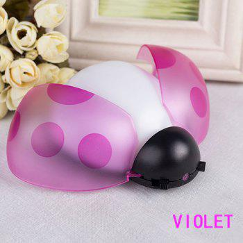 Remote Control Bedside Desk LED Beetle Cartoon Night Light - PURPLE PURPLE
