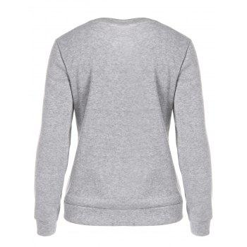 Pompon Ice-Cream Print Sweatshirt - Gris XL