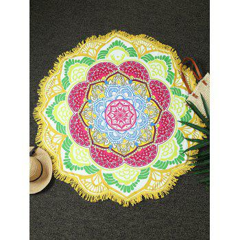 Round Fringed Flower Shape Beach Throw