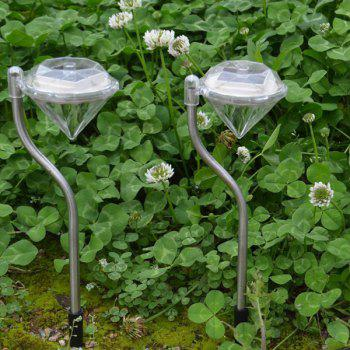 Waterproof Outdoor Decorative LED Solar Garden Lights Diamond Lawn Lamp - TRANSPARENT