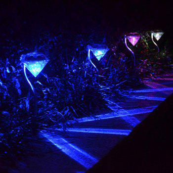 Waterproof Outdoor Decorative LED Solar Garden Lights Diamond Lawn Lamp - TRANSPARENT TRANSPARENT