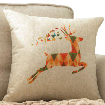 Colorful Milu Deer Printed Home Decor Car Cushion Pillow Case