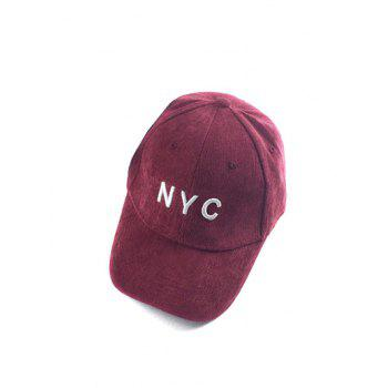 Autumn NYC Embroidery Corduroy Baseball Hat