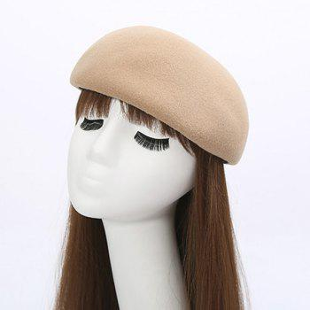 Half Melon Shape Felt Hat