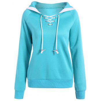 Autumn Criss-Cross Drawstring Pullover Hoodie