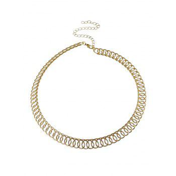 Alloy Circle Chain Choker Necklace
