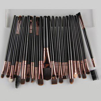 22 Pcs Nylon Facial Eye Lip Makeup Brushes Set - BLACK