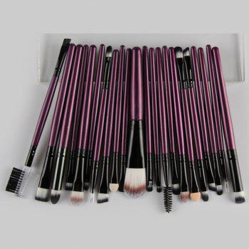 22 Pcs Nylon Facial Eye Lip Makeup Brushes Set -  PURPLE
