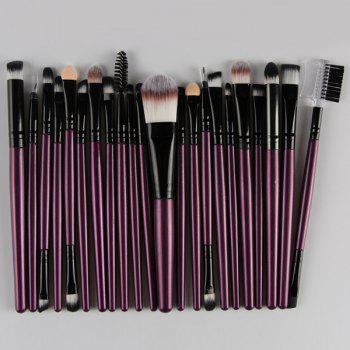 22 Pcs Nylon Facial Eye Lip Makeup Brushes Set - PURPLE PURPLE
