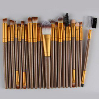 22 Pcs Nylon Facial Eye Lip Makeup Brushes Set - GOLDEN GOLDEN